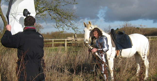 Jason and Warlord posing for The Sunday Times. Photography courtesy of Kasumi Kitano.