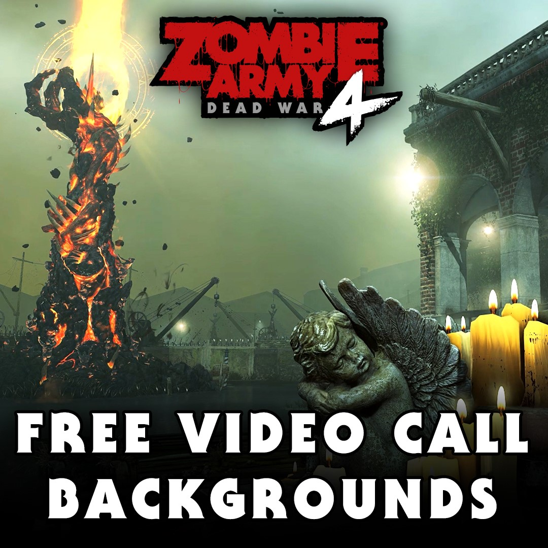 FREE Zombie Army 4 Video Call Backgrounds!