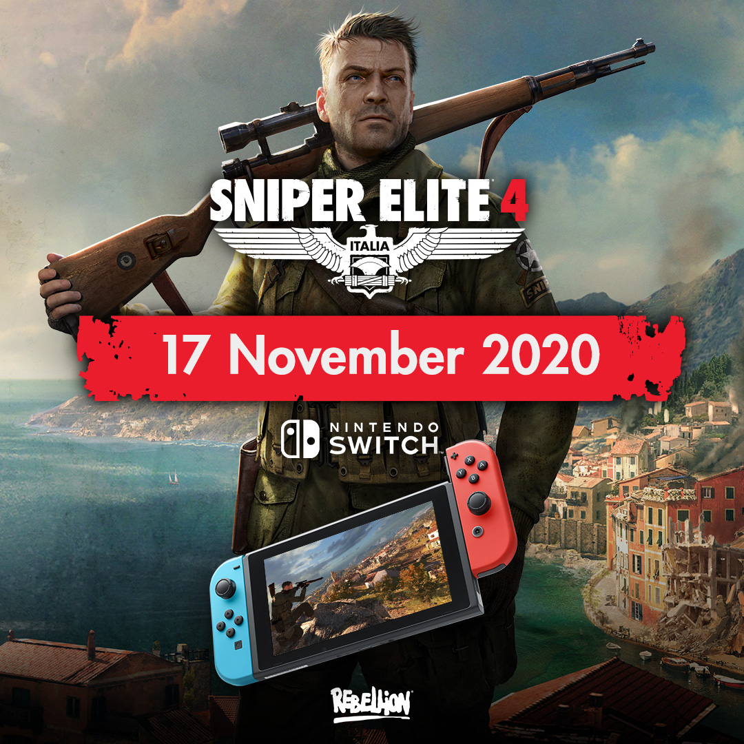 Sniper Elite 4 Comes to Switch this 17th November