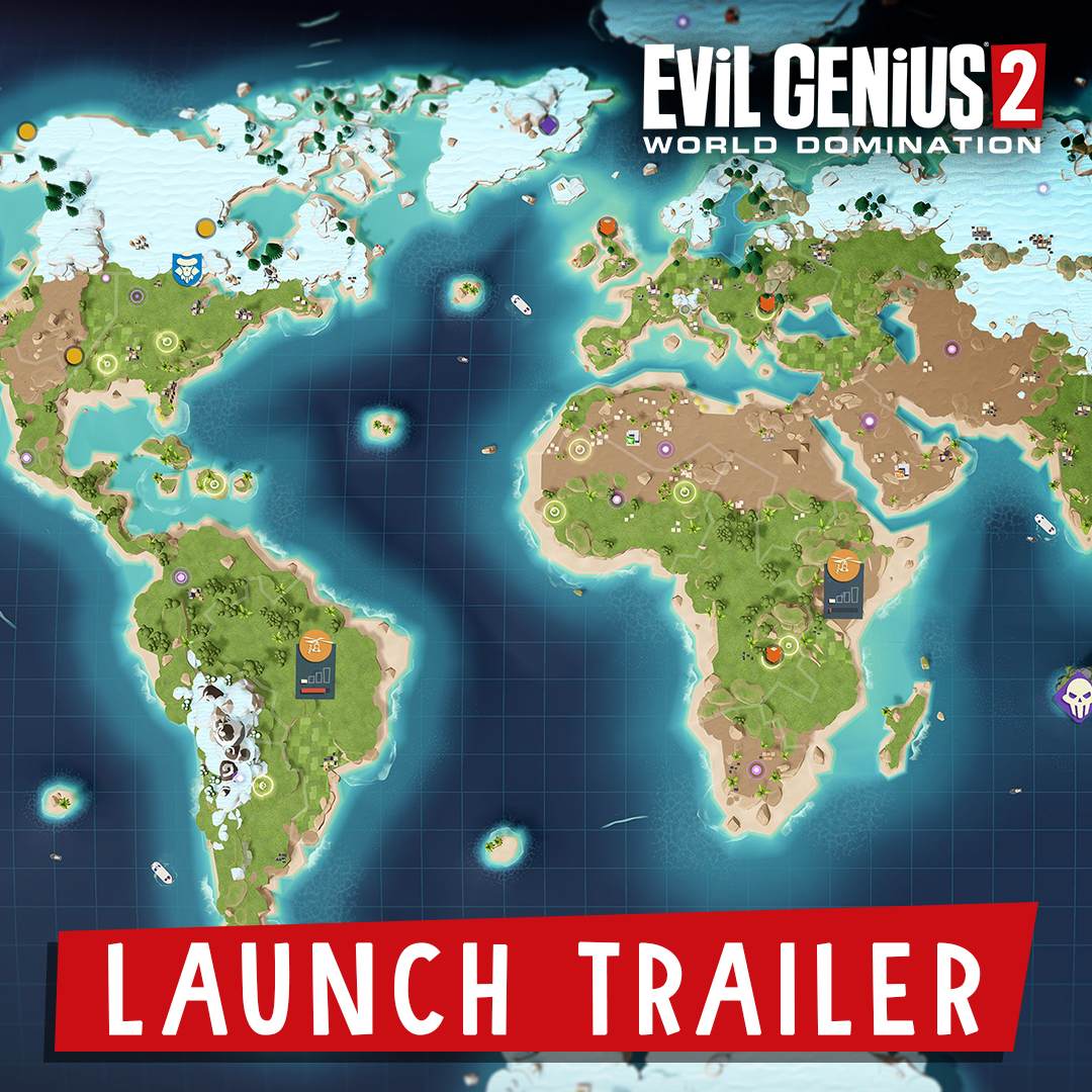 The end is no longer nigh, it's right here! Evil Genius 2: World Domination is available NOW to buy and play via Steam.