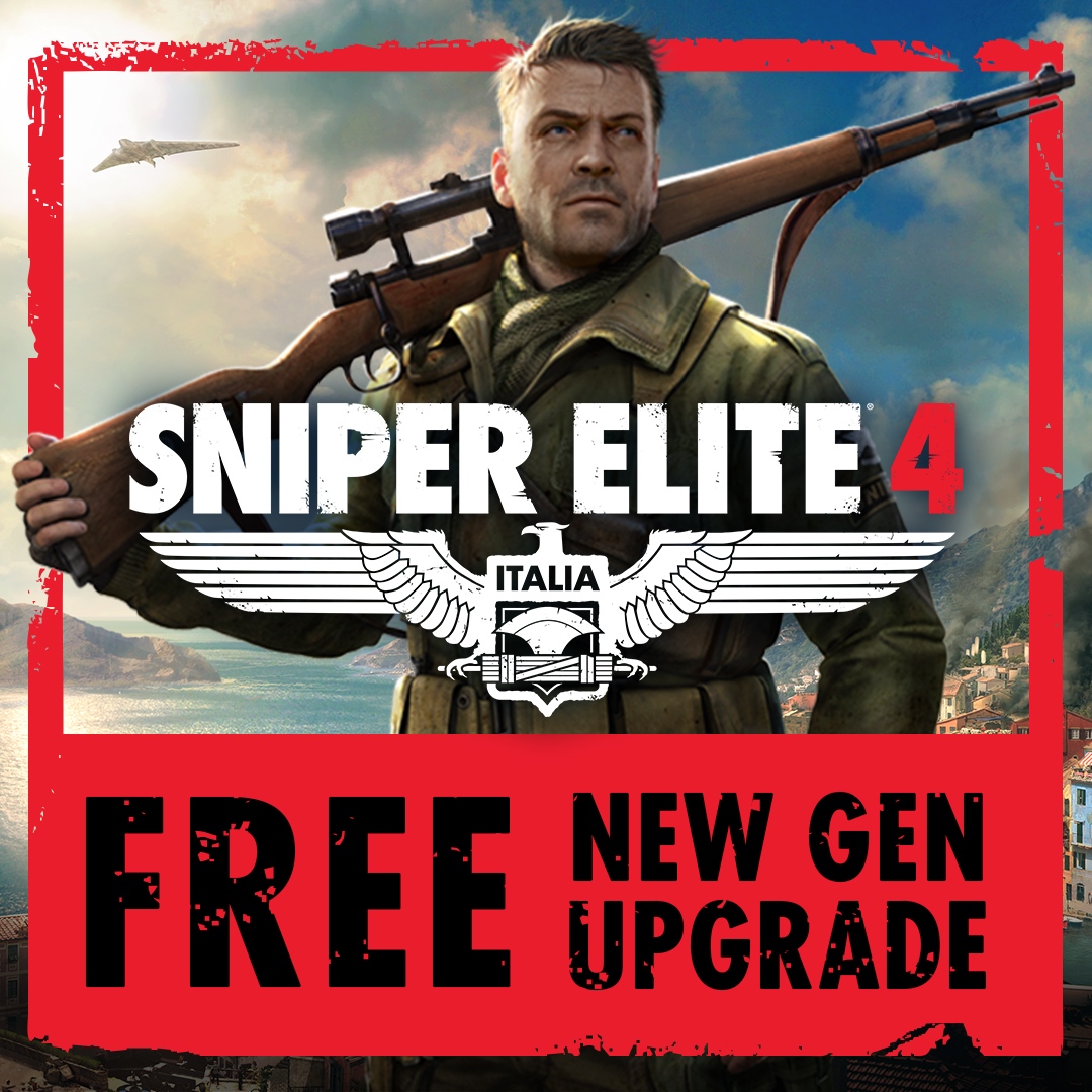 SNIPER ELITE 4 GETS A FREE UPGRADE ON PLAYSTATION 5 AND XBOX SERIES X|S