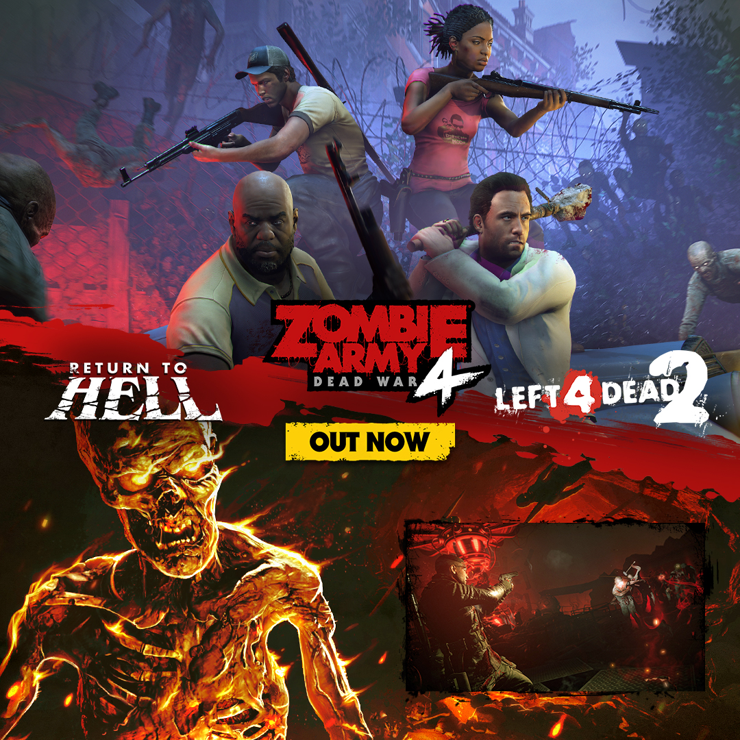 LEFT 4 DEAD 2 ICONS GET READY TO 'RETURN TO HELL' IN LATEST ZOMBIE ARMY 4 DLC