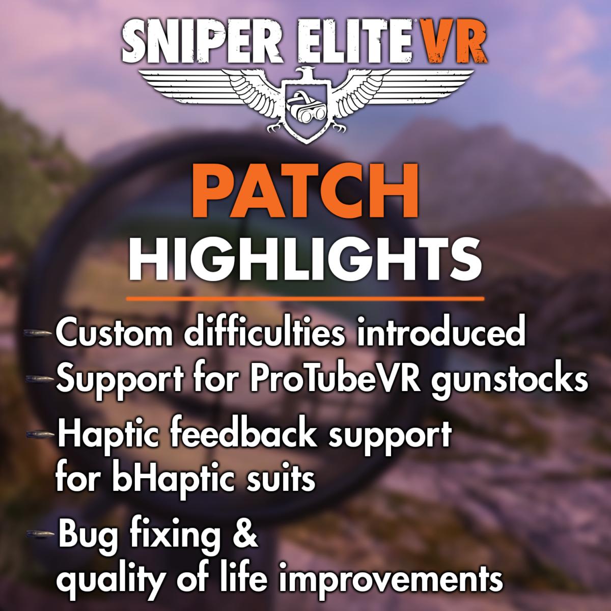 Sniper Elite VR September Patch